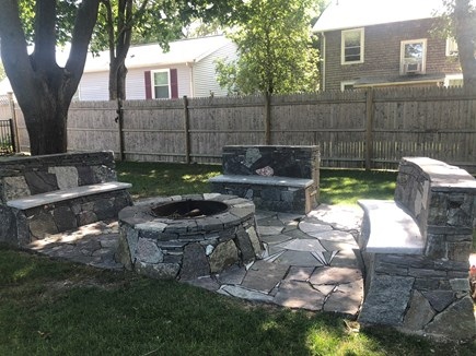 West Yarmouth Cape Cod vacation rental - Custom firepit