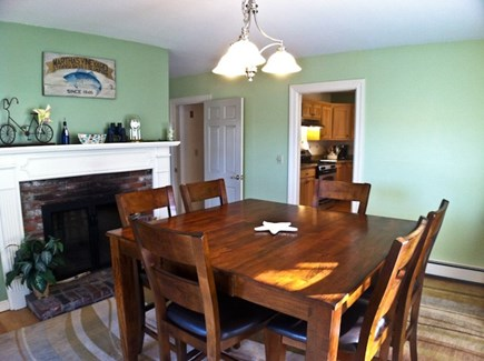 Harwich, Waterfront Quiet Cape Cod vacation rental - Dining Room overlooking water