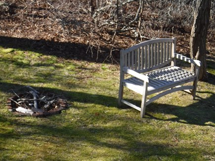 Harwich, Waterfront Quiet Cape Cod vacation rental - Lake seating and firepit