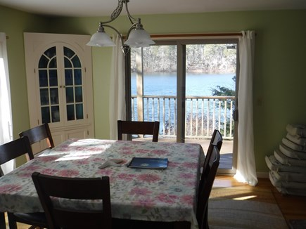 Harwich, Waterfront Quiet Cape Cod vacation rental - Dining room looking at water