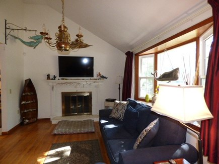 Dennis Cape Cod vacation rental - Living room with cathedral ceilings