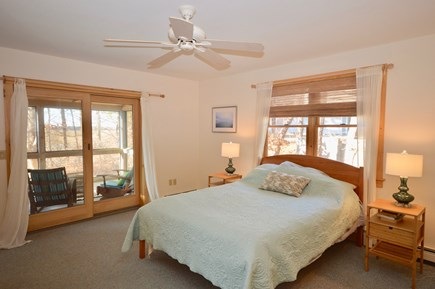 Eastham Cape Cod vacation rental - Master bedroom with adjacent screened porch and ensuite bathroom