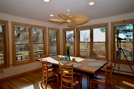 Eastham Cape Cod vacation rental - Dining room with wall-to-wall views of the marsh