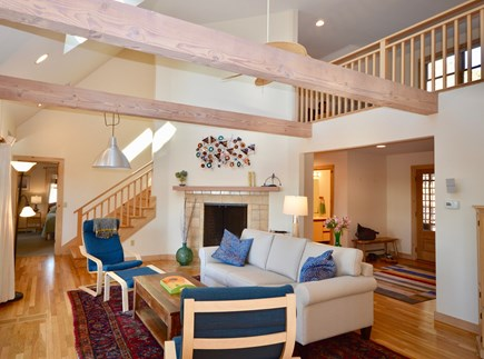 Eastham Cape Cod vacation rental - Gorgeous main living area with cathedral ceilings and skylights