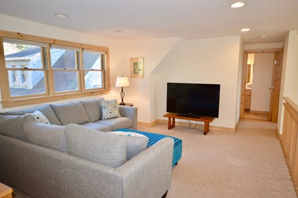 Eastham Cape Cod vacation rental - Upstairs loft area with TV and comfy new sectional sofa