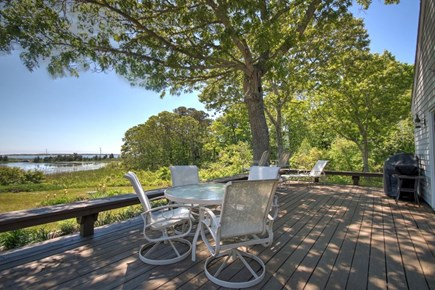 Hyannisport Cape Cod vacation rental - Relax on the deck overlooking the water