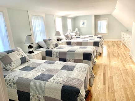 Dennis - Mayflower Beach Cape Cod vacation rental - Second Floor Bedroom with Four Twins