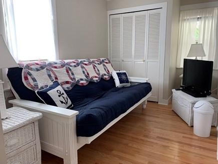 Dennis - Mayflower Beach Cape Cod vacation rental - First Floor TV Room / Bedroom with Queen Futon