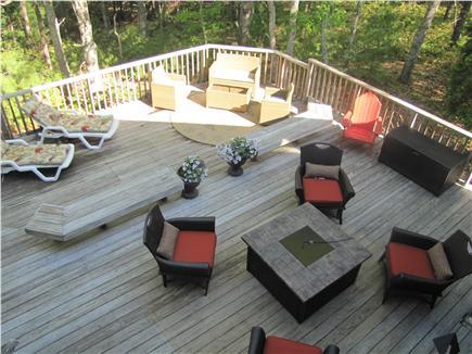 New Seabury (Mashpee) New Seabury vacation rental - Overhead view of spacious deck. Plenty of seating!
