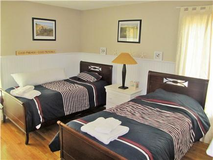 New Seabury (Mashpee) New Seabury vacation rental - Nautical guest bedroom with 2 twin beds and flatscreen TV.