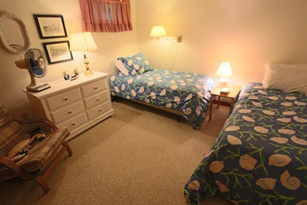 Truro Cape Cod vacation rental - Bedroom #4 on Lower Level with 2 Twin Beds.