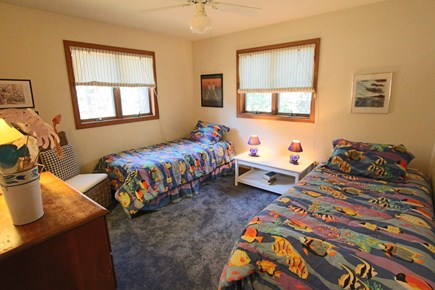 Truro Cape Cod vacation rental - Bedroom #3 with 2 Twins on Main Level.