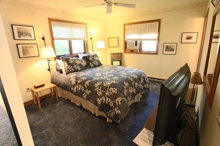Truro Cape Cod vacation rental - Master Bedroom with Window AC and Full, Newly Renovated Bath.