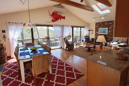 Truro Cape Cod vacation rental - Open Living-Dining-Kitchen Room.
