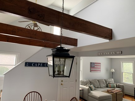 Chatham Cape Cod vacation rental - Open layout- living room, dining room, and kitchen