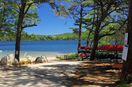 Wellfleet Cape Cod vacation rental - Public beach on opposite side of Gull Pond