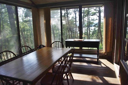 Wellfleet Cape Cod vacation rental - Enclosed porch is also your dining area.