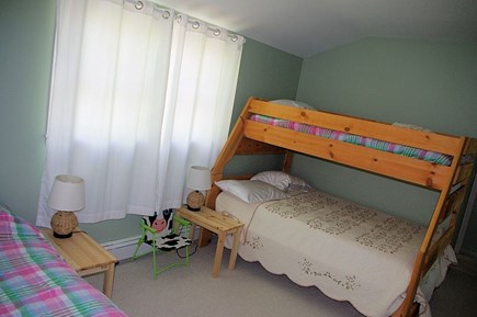 Wellfleet Cape Cod vacation rental - 2nd Bedroom with double/twin bunk and separate twin bed.