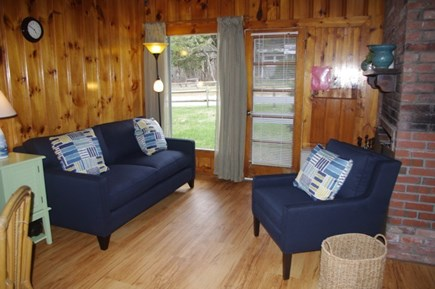South Wellfleet Cape Cod vacation rental - Living room with working fireplace