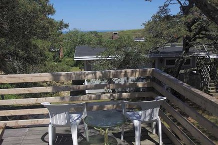 South Wellfleet Cape Cod vacation rental - Roof deck with distance view of ocean