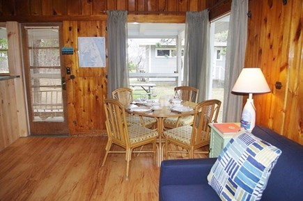 South Wellfleet Cape Cod vacation rental - Living room and dining area.