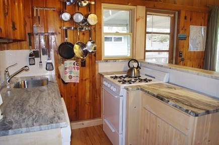 South Wellfleet Cape Cod vacation rental - Gas stove, dishwasher, refrigerator, microwave oven & coffeemaker