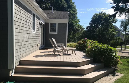 Dennis Port Cape Cod vacation rental - Large composite deck (grill and table not shown)