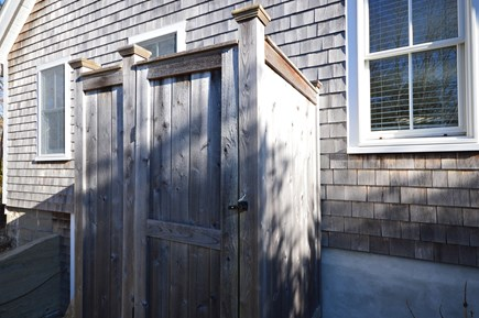 Chatham Cape Cod vacation rental - Fully enclosed outdoor shower in privacy of the backyard