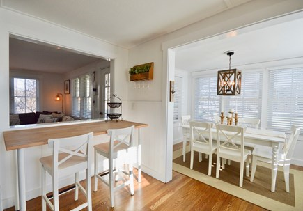 Chatham Cape Cod vacation rental - Breakfast bar and dining nook in the kitchen seating for 8 total