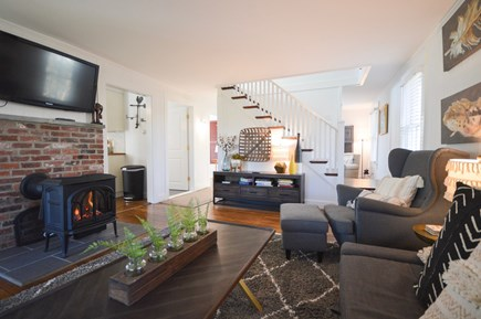Chatham Cape Cod vacation rental - Cozy and inviting main living area with cable TV, gas stove