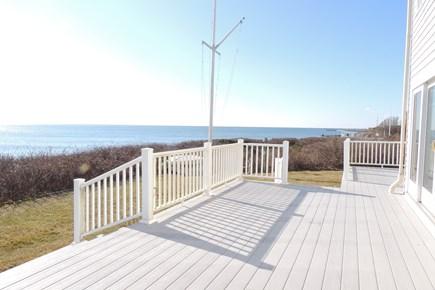 West Harwich Cape Cod vacation rental - Expansive deck overlooking Nantucket Sound