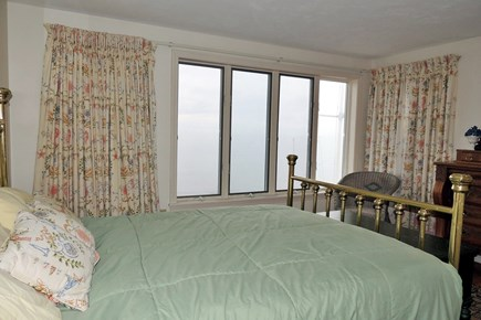 West Harwich Cape Cod vacation rental - Guest bedroom with ocean views and queen size bed
