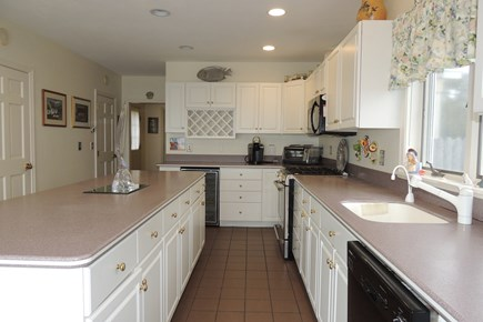 West Harwich Cape Cod vacation rental - Fully equipped kitchen with wine cooler