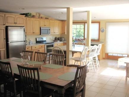 Chatham near Ridgevale Beach Cape Cod vacation rental - Huge cooks kitchen and seating for 10 at table and 5 at island