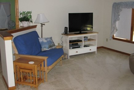 Chatham near Ridgevale Beach  Cape Cod vacation rental - Upstairs family room with TV and play area