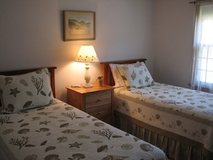 Chatham near Ridgevale Beach  Cape Cod vacation rental - Twin Bedroom on main floor