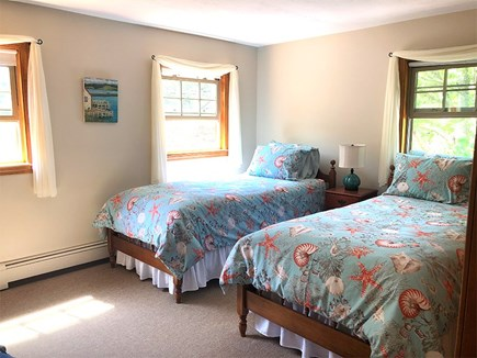 Eastham, 3961 - Thumpertown Cape Cod vacation rental - Second floor bedroom with two twins
