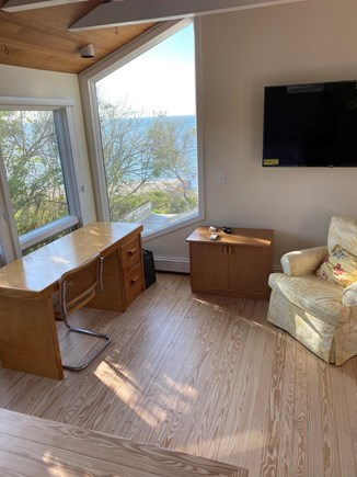 Brewster Cape Cod vacation rental - Comfortable sitting area and stunning views in master bedroom