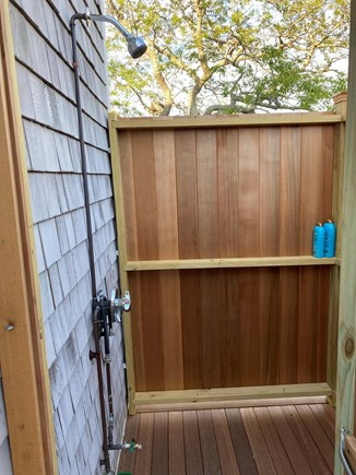 Brewster Cape Cod vacation rental - Brand new fully-enclosed outdoor shower