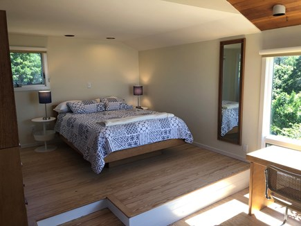 Brewster Cape Cod vacation rental - Spacious, bright upstairs en suite queen bedroom with A/C