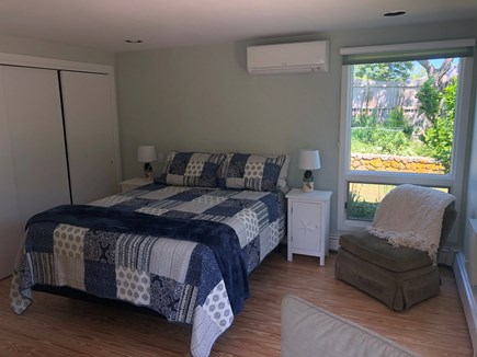 Brewster Cape Cod vacation rental - Air-conditioned 1st-floor queen bedroom with it's own entrance