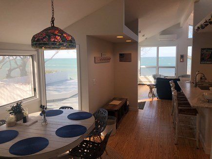 Brewster Cape Cod vacation rental - Bright dining table with water views