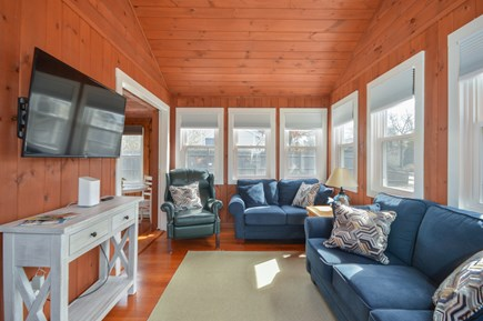 Falmouth Cape Cod vacation rental - Large living room with Smart TV and cathedral ceilings