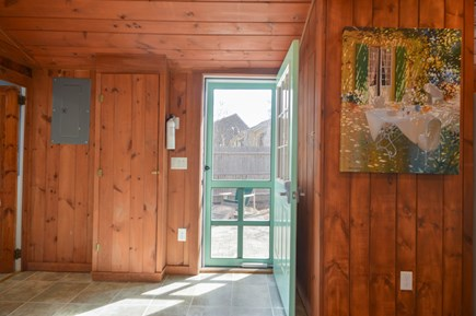 Falmouth Cape Cod vacation rental - Front entrance with knotty pine all around