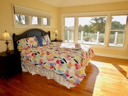 Chatham Cape Cod vacation rental - Upstairs master bedroom with a king bed and elevated views