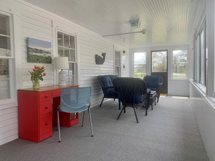 Harwich Port  Cape Cod vacation rental - Bright sunny Sunroom off the kitchen with windows all around.