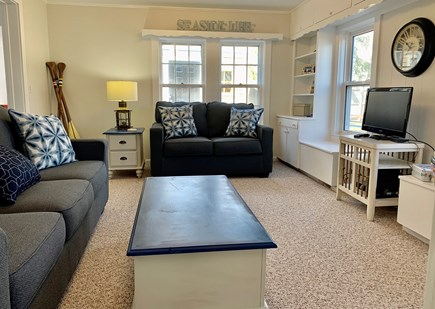 Harwich Port  Cape Cod vacation rental - Family room with lots of light filled with games and puzzles.
