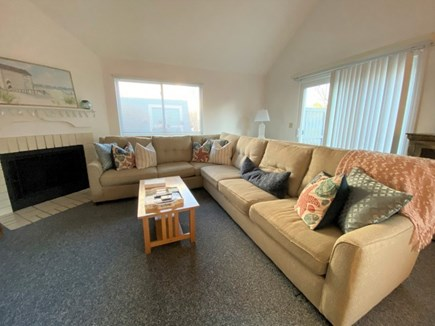 Brewster, Ocean Edge Condo  Cape Cod vacation rental - Spacious Living Room with fireplace