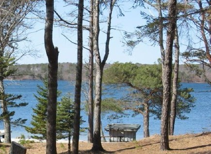 Harwich, Pleasant Lake Cape Cod vacation rental - View of the semi private beach from the front of the cottage
