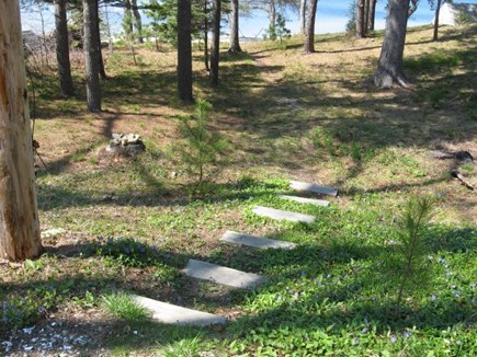 Harwich, Pleasant Lake Cape Cod vacation rental - Gently sloping path to the semi private beach